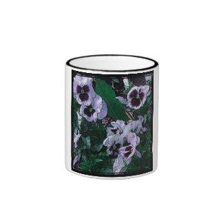 White Pansy Flower Mug