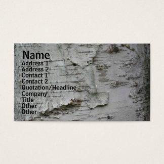 White Paper Birch Bark Nature Business Card