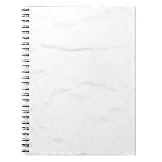 WHITE paper crease creased texture crumple crumple Spiral Notebook