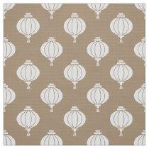 white paper lantern oriental pattern fabric