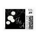White Paper Lanterns Wedding Postage Stamp