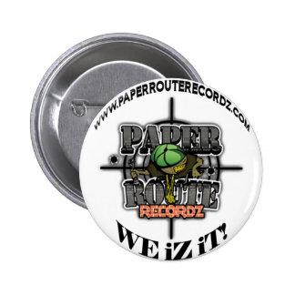 White Paper Route Recordz - We iZ iT! Button! Button