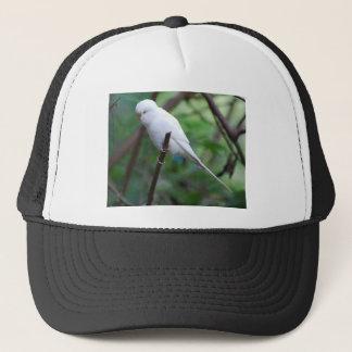 white parakeet trucker hat