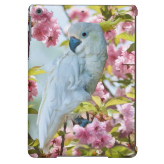 White Parrot and Cherry Blossoms iPad Air Cases