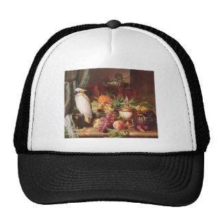 White Parrot exotic fruit bird cockatiel Trucker Hat