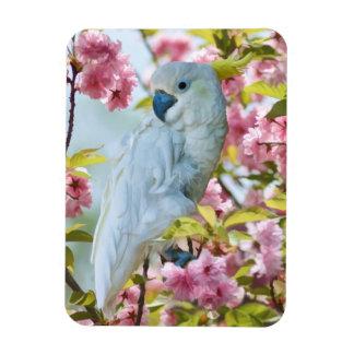 White Parrot in Tree Flexible Magnet