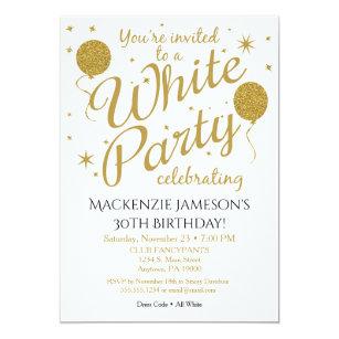 white party invitation all white party invite