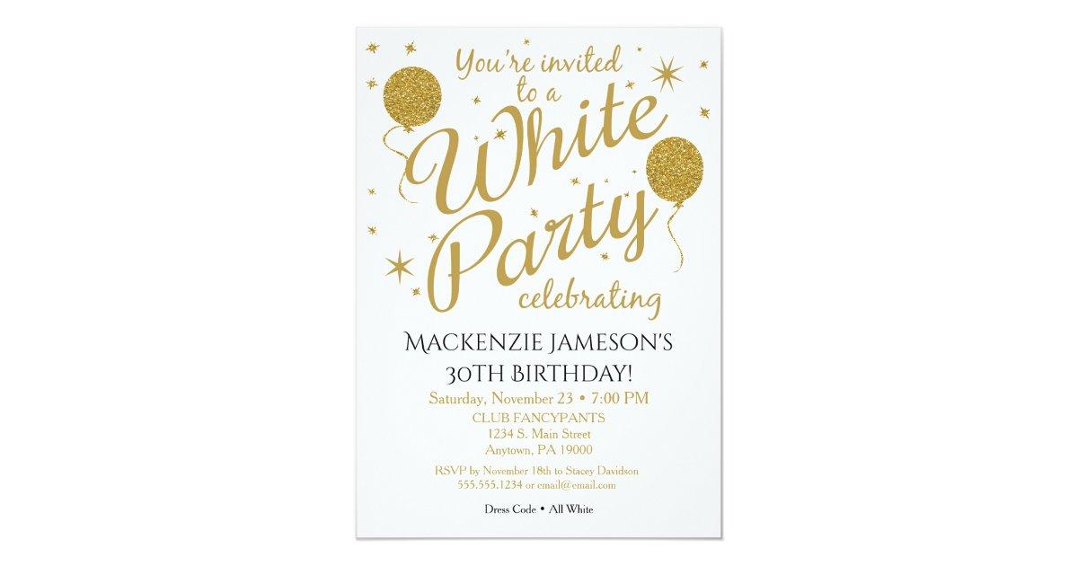 White Party Invitation All White Party Invite – All White Party Invitation