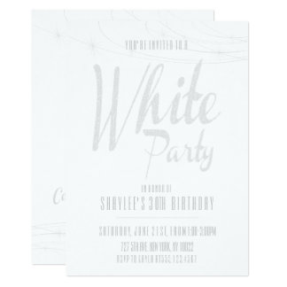 White Party Invitations