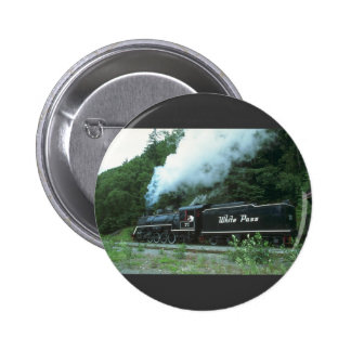 White Pass and Yukon in White Pass out of Skagway, 2 Inch Round Button