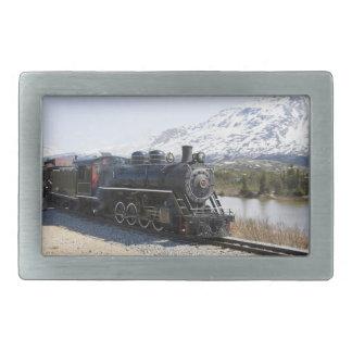 White Pass Train Buckle Rectangular Belt Buckle