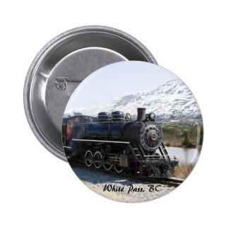 White Pass Train in Snow Button