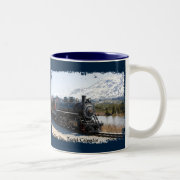 White Pass Train in Snow Coffee Mug