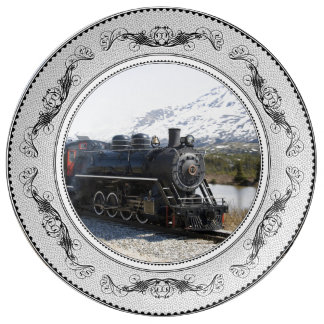 White Pass Train in Snow Porcelain Porcelain Plate