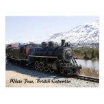White Pass Train in Snow Postcard
