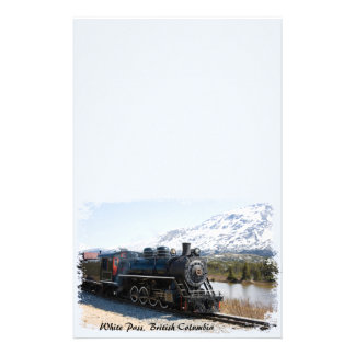 White Pass Train in Snow Stationery