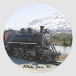 White Pass Train in Snow Stickers