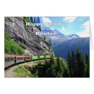 White Pass & Yukon Route Brother Train Birthday Greeting Card