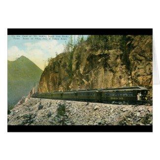 White Pass & Yukon Route Train 1936 Vintage card
