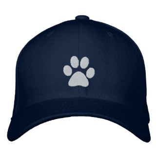 White Paw Embroidered Baseball Hat