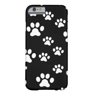 White paw prints barely there iPhone 6 case