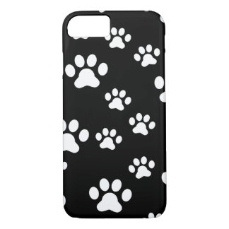 White paw prints iPhone 7 case