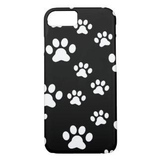 White paw prints iPhone 8/7 case