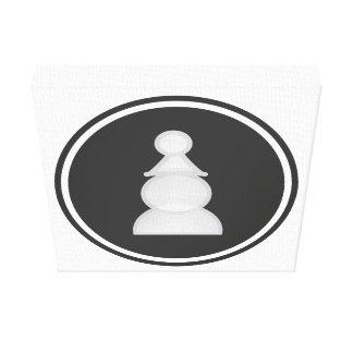 White Pawn Chess Canvas Print
