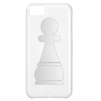 White pawn chess piece case for iPhone 5C