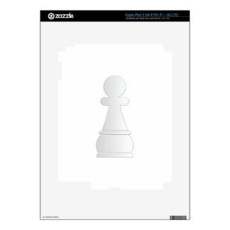 White pawn chess piece iPad 3 skin