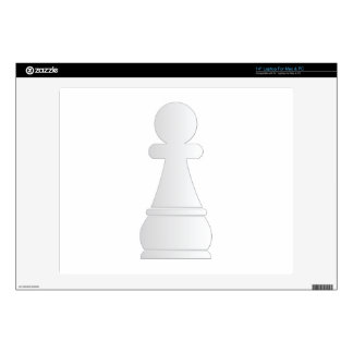 White pawn chess piece laptop decal