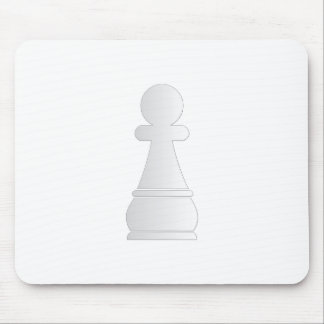 White pawn chess piece mouse pad