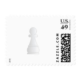 White pawn chess piece postage