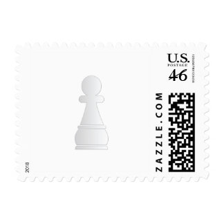 White pawn chess piece stamps