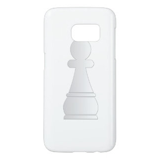 White pawn chess piece samsung galaxy s7 case