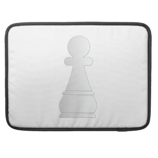 White pawn chess piece sleeve for MacBooks