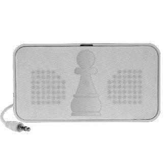 White pawn chess piece portable speakers