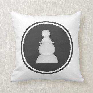 White Pawn Chess Pillow