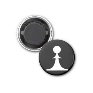 white pawn (you need 8) 1 inch round magnet
