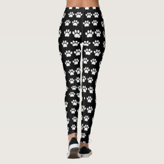 White PawPrints All-Over Print Leggings