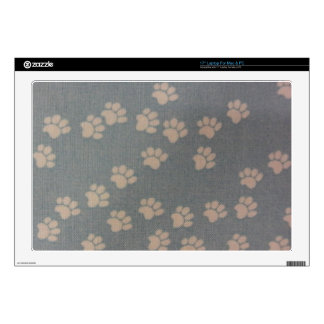 White Pawprints Decal For Laptop