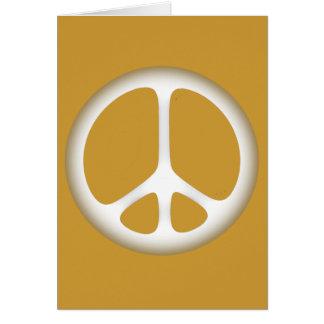 white peace card