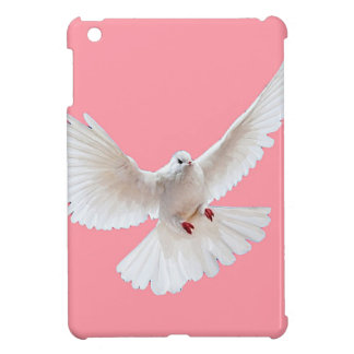 White Peace Dove Coral pink Gifts by Sharles Cover For The iPad Mini