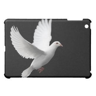 WHITE PEACE DOVE IN FLIGHT iPad MINI CASES