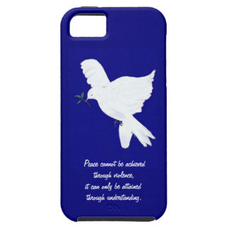 White Peace Dove-Quote iPhone 5 Cover