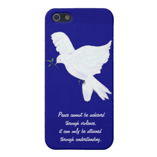 White Peace Dove-Quote Cover For iPhone 5