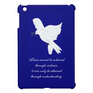White Peace Dove-Quote iPad Mini Cover
