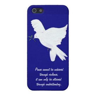 White Peace Dove-Quote iPhone SE/5/5s Cover