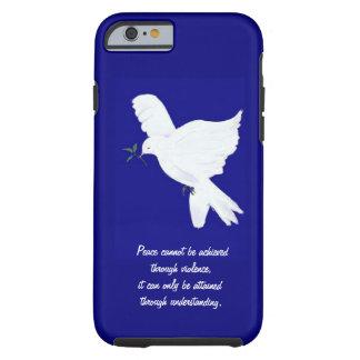 White Peace Dove-Quote iPhone 6 Case