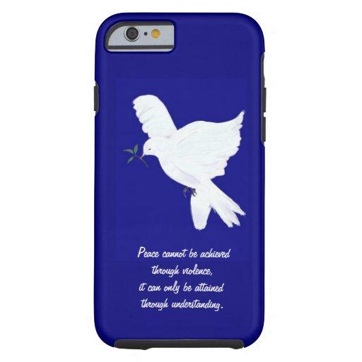 White peace dove quote tough iphone 6 case zazzle for Tough exterior quotes